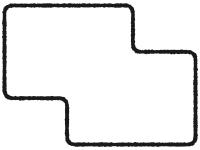 白黒のシンプルな多角形フレーム飾り枠イラスト02