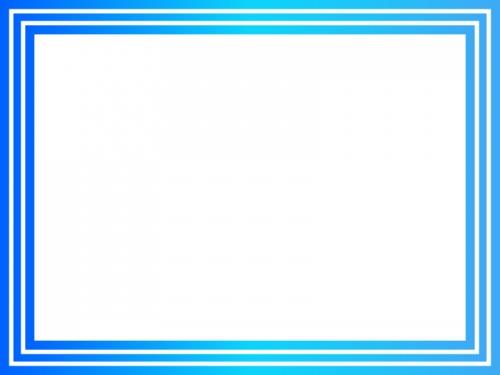 ブルーグラデーションのフレーム飾り枠イラスト03