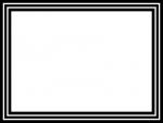 白黒のシンプルな線のフレーム飾り枠イラスト03