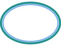 シンプルな楕円の線フレーム飾り枠イラスト04