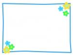 小花のシンプルフレーム飾り枠イラスト02
