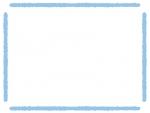 太い手書き風線のフレーム飾り枠イラスト