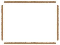 太い手書き風線のフレーム飾り枠イラスト02