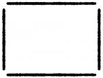 太い手書き風線の白黒フレーム飾り枠イラスト02