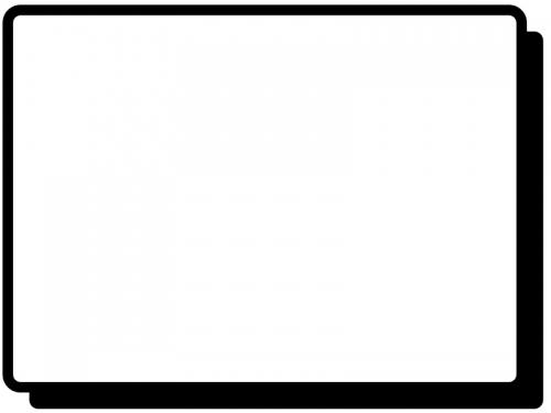 白黒のシンプルな線のフレーム飾り枠イラスト04