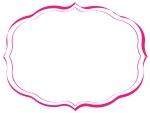 手書き風のシンプルな飾り罫線のフレームイラスト02