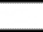 白黒の上下シンプルフレーム飾り枠イラスト