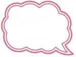 手書きの吹き出しフレーム飾り枠イラスト03