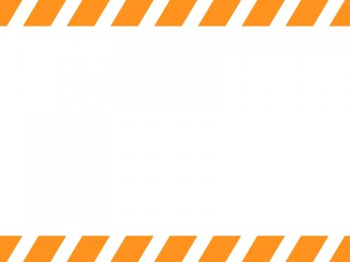 上下の斜めストライプのフレーム飾り枠イラスト03