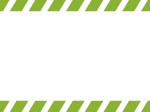 上下の斜めストライプのフレーム飾り枠イラスト04