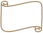 シンプルな巻紙のフレーム飾り枠イラスト