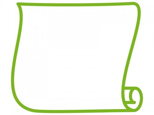 縦型のシンプルな巻紙のフレーム飾り枠イラスト