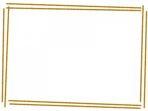 手書き風斜め二重線のフレーム飾り枠イラスト