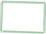 手書き風斜め二重線のフレーム飾り枠イラスト02