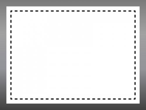 白黒のグラデーションと点線のフレーム飾り枠イラスト