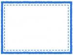 四角いシンプルな二重線のフレーム飾り枠イラスト03