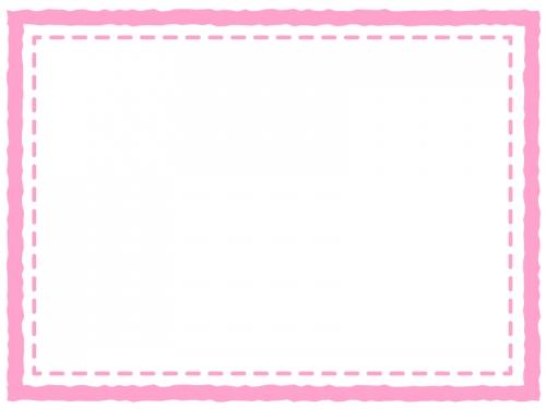 四角いシンプルな二重線のフレーム飾り枠イラスト04