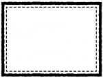 白黒の四角いシンプルな二重線のフレーム飾り枠イラスト02