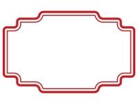 ラベル風デザイン飾り枠フレームイラスト03