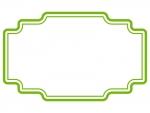 ラベル風デザイン飾り枠フレームイラスト04