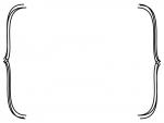白黒のシンプルな括弧のフレームイラスト