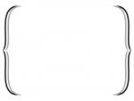 白黒のシンプルな括弧のフレームイラスト03