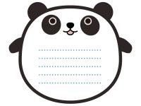 パンダのメモ帳風フレーム飾り枠イラスト