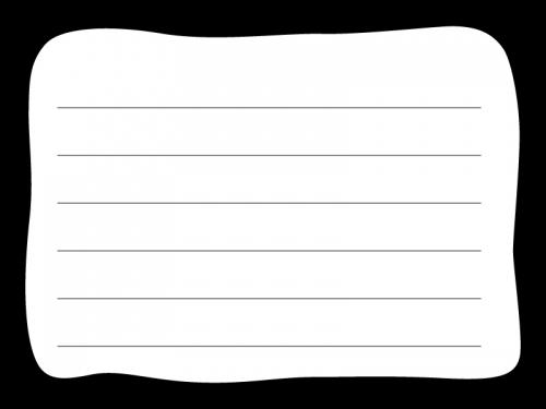 白黒の手書き風のポップなメモ帳フレーム飾り枠イラスト