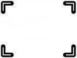 白黒のシンプルな四隅フレーム飾り枠イラスト02