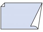 角がめくれているシンプルなフレーム飾り枠イラスト05