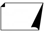 白黒の角がめくれているシンプルなフレーム飾り枠イラスト04
