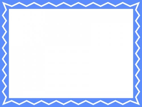 ギザギザ模様のフレーム飾り枠イラスト