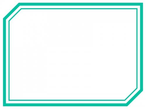 多角形フレーム(二重線)の飾り枠イラスト