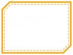 点線の多角形フレーム飾り枠イラスト