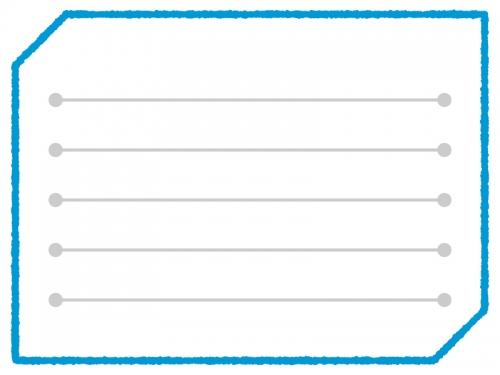 多角形の手書き風メモ帳フレーム飾り枠イラスト