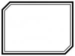 白黒の二重線の多角形フレーム飾り枠イラスト02