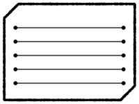 白黒の多角形の手書き風メモ帳フレーム飾り枠イラスト