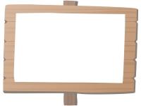 白木の立て看板のフレーム飾り枠イラスト