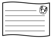節分・メモ帳の白黒フレーム飾り枠イラスト