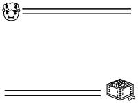 節分・上下の白黒フレーム飾り枠イラスト