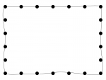 黒い丸の手書き線フレーム飾り枠イラスト