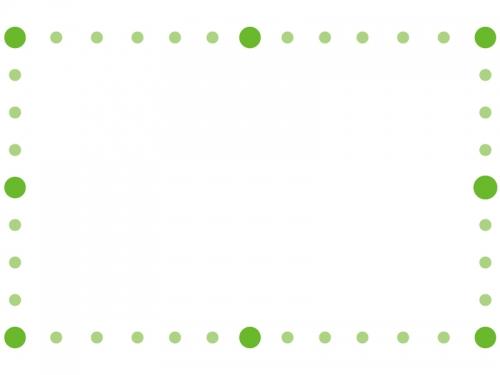 丸で囲ったシンプルなフレーム飾り枠イラスト