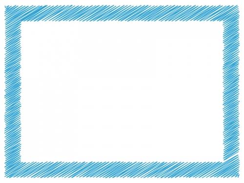 落書き風の太枠フレームイラスト