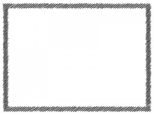 白黒の落書き風のフレーム飾り枠イラスト