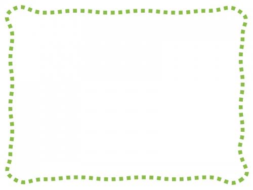 シンプルな波の点線のフレーム飾り枠イラスト