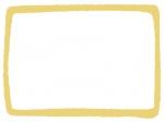 手書き風の太枠フレームイラスト
