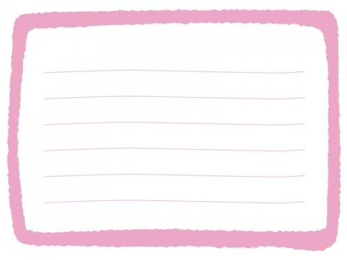 手書き風の太枠メモ帳フレームイラスト