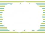 ボーダー背景のもこもこフレーム飾り枠イラスト02