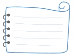 巻紙のメモ帳フレーム飾り枠イラスト
