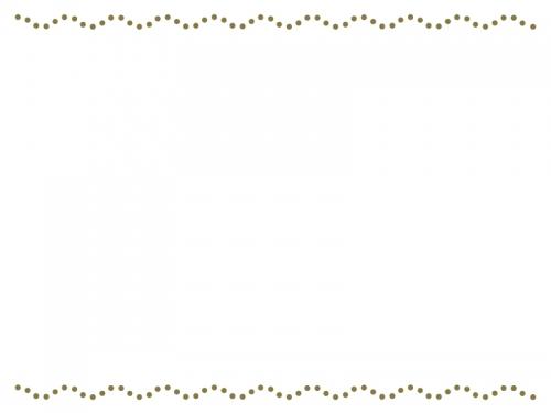 波の点線の上下フレーム飾り枠イラスト